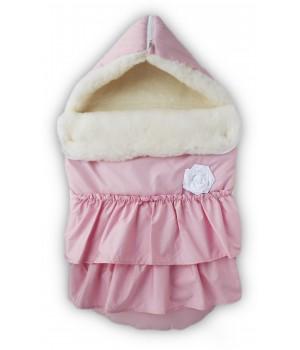Конверт на выписку Принцесса (овчина) розовый