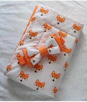 Конверт-одеяло на выписку Лисята лето + бант